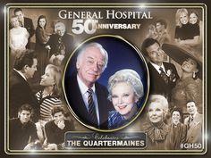 General Hospital Quartermaine 50th Anniversary collage