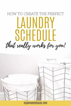 Laundry can be overwhelming to say the least - so these Laundry schedule tricks and tips will really help you to get more sorted each and every day. Don't let your laundry routine get the better of you ever again! House Cleaning Tips, Cleaning Hacks, Laundry Schedule, Linen Cupboard, Declutter, Organize, Household Chores, Homemaking, Home Organization