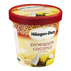 Haagen-Dazs Ice Cream Pineapple Coconut. Oh my!  Oh my!  Oh my!  This is soooooo…