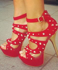 yes, yes all heeled up in red