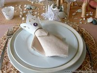 Decoracion mesa Reyes Magos servilletero blonda