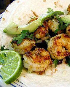 Amazing Pinterest world: Shrimp Tacos with Lime and Avocado