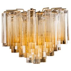 Fantastic pair of original chandeliers poliedri carlo scarpa for murano amber chandelier by venini 1960s see more antique and modern chandeliers and pendants aloadofball Choice Image