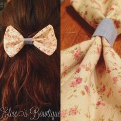 Floral with a Hint of Denim Bow. Want it? Pin it. CLICK IT!