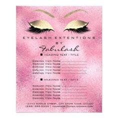 Makeup Artist Beauty Salon Gold Glitter Flyer Pink - glitter glamour brilliance sparkle design idea diy elegant
