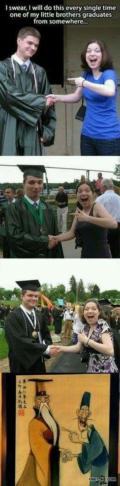 I swear, I will do this every time one of my brothers graduates from somewhere.