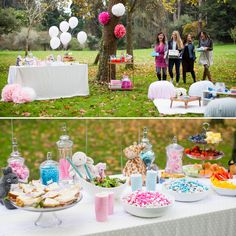Oooooh An outdoor baby shower Balloons and flowers So pretty