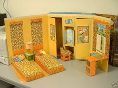 Campus Dorm Room of the Barbie Goes to College Playset, 1964
