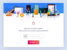 Dribbble - Landing page for support  by Udhaya chandran | Baspixels