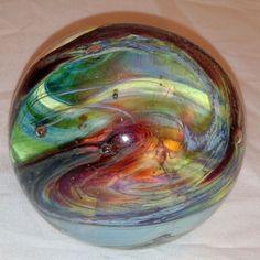 2 5x2 inch 1990 Art Glass Paperweight by Nancy Gagnon of Putney Vermont | eBay