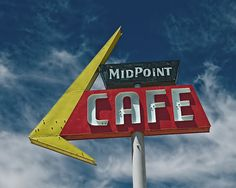 """MidPoint Cafe"" - American Graphic 50s/60s Neon Signs."