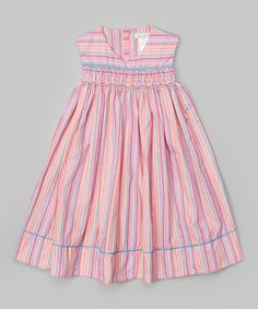 Another great find on #zulily! Pink Stripe Smocked Dress - Infant & Toddler #zulilyfinds