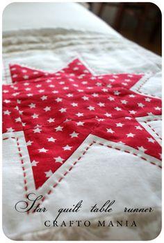 crafto-mania: Star Quilt Table Runner