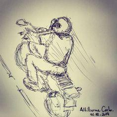 Olhando pela janela • Desenho:Dez/2014  #desenhosdoalti #sketch #sketchbook #onibus #bus #art #artworks #instaart #illustration #pen #movimento #desenhos #drawing #motocycle #motovelocidade #draw #drawing