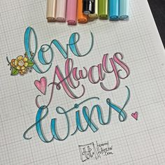 I want to try the tombow brush pens for hand lettering.