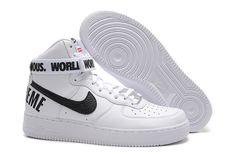more photos 8e71a 3300b Nike Air Force 1 High Supreme White Black Men Shoes Air Force Shoes, Air  Force