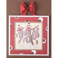 i thought i wanted whales for a little boys room but now i love the sock monkey idea