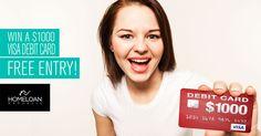 Win a $1000 Visa Debit Card!