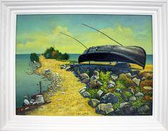 Peisaj cu barca -Albin Stanescu
