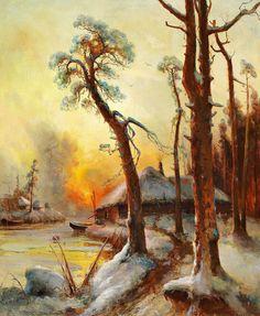 "Yuli Yulievich Klever (1850-1924), ""Winter landscape""   by sofi01"