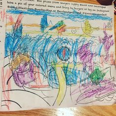 My Grandsons coloring contest entry @eastendgastropub #slscoloringcontest @saltylittlesliders @westendtap  #contest #coloring #drawing #crayons