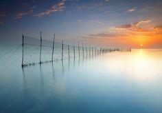 Fish Trap Sunrise, Kuwait by Saleh AIRashaid