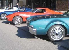 Jackson Cruise Night.  My dad and uncle display their restored cars here.  Downtown ~Jackson, Michigan.