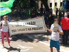 Em Joaçaba, foram 150 pessoas (Foto: Eduardo Cristófoli/RBS TV)