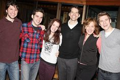 Aaron Tveit's smile can cure cancer.  Cast of Next to Normal