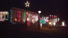 Christmas Lights Outside our House