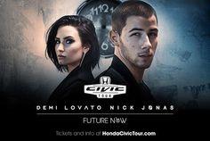 Demi Lovato Nick Jonas to Headline 15th Anniversary Honda Civic Tour This Summer