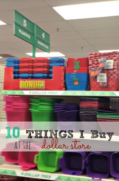 The best items to get from a dollar store!