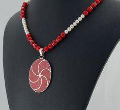 Coral Sterling Silver Pearl Pendant by RivendellRockJewelry, $87.00