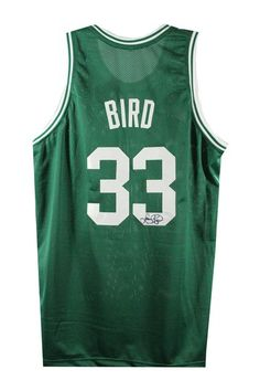 Larry Bird Autographed Boston Celtics Green Away Jersey (Signed In Black) - Needs Attention Memorabilia Boston Sports, Nba Sports, Larry Bird, Celtics Gear, Celtic Green, Celtic Pride, Gifts For Hubby, Boston Strong, Nfl Jerseys