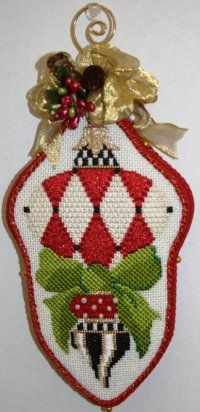 Christmas Ornament - Strictly Christmas Needlepoint Canvas ...