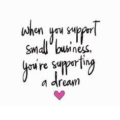Shop small. Support your friends.