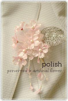 オンリーワンの桜のコサージュを作ってみませんか?の画像 | ●ポリッシュ●静岡,お花のチカラで自分磨き【アーティフィシャルフラワー…