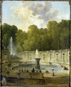 Washerwomen in a garden, Circa 1775  Hubert Robert (Paris, 1733 - Paris, 1790)