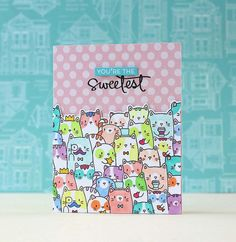Mama Elephant-The Cat's Meow Card by Laura Bassen.