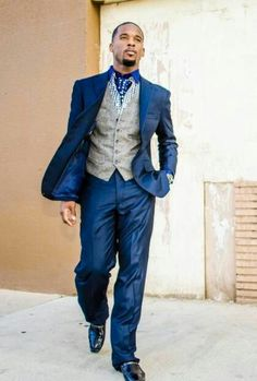 H&M Navy Suit, Ysl Waistcoat, Bachelor Shoes Slippers | # MENSWEAR ...