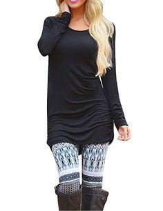 d511c58fc8618 Sherosa Women's Ruched Tunic Dresses Long Shirts Blouses Tunic Tops for  Leggings at Amazon Women's Clothing