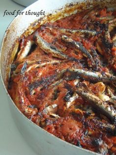 Greek Recipes, Fish Recipes, Seafood Recipes, Cookbook Recipes, Cooking Recipes, Healthy Recipes, How To Cook Fish, Fish And Seafood, Food For Thought