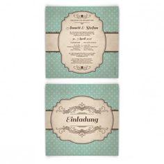 Hochzeitseinladungen - 50er Jahre Vintage #hochzeit #einladungskarte #hochzeitseinladung #vintage #vintagehochzeit #einladung #papeterie #kartenmachende