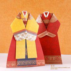 Hanbok korean traditional royal dress card set