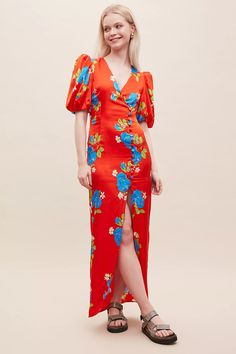 De La Vali Ohio Floral-Print Maxi Dress | Anthropologie UK