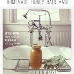 Try It Together: Homemade Honey Hair Masks - need to try this on poor Logan's dry head.