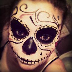 ferniistar:  #repost #sugarskullartista #halloween #old #sugarskull #dayofthedead #mexican #makeup #mua #mac #2012 new halloween faces comin...