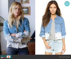 Hanna's ombre denim jacket on Pretty Little Liars. Outfit Details: worno… - Clothing World Grunge Outfits, Cute Edgy Outfits, Pretty Little Liars Outfits, Pll Outfits, Tv Show Outfits, Trendy Summer Outfits, Casual Outfits, Fashion Tv, Fashion Outfits
