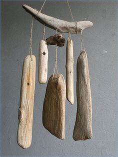 Wind ChimeBaltic DriftwoodLarge Driftwood DecorUnique - How To Make Things Driftwood Sculpture, Driftwood Art, Driftwood Mobile, Driftwood Furniture, Carillons Diy, Shell Flowers, Driftwood Projects, Driftwood Ideas, Diy Wind Chimes