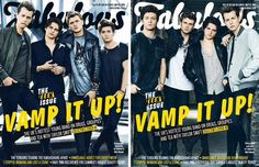 Buy The Sun on Sunday to get Fabulous magazine where The Vamps are on the front cover.